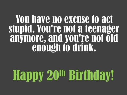 Imagenes De Funny Birthday Quotes 20 Years Old